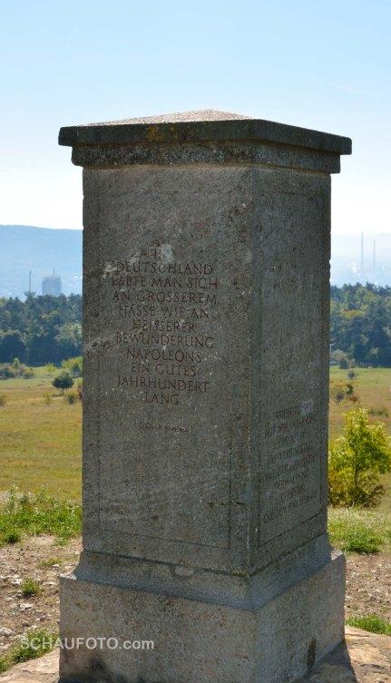 Der Napoleonstein mit Jenaer Hintergrund