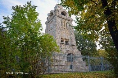 Der Weißenfelser Bismarck-Turm ist (wieder) eine wohlproportinonierte Schönheit.
