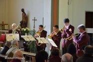 Die Weißenfelser Stadtmusikanten beenden das Konzert musikalisch.