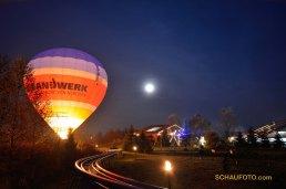 Ballonglühen mit Mond