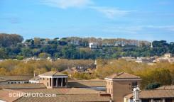 Sicht vom Palatin auf den Gianicolo.
