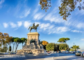 Garibaldi in Blickrichtung Rom. (HDR)