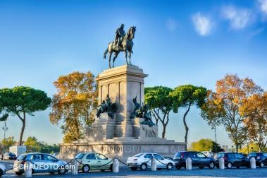 Nochmal das Garibaldi-Denkmal am historischen Schlachtplatz. (HDR)