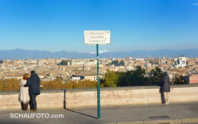 Rom, wie auf dem Präsentierteller.