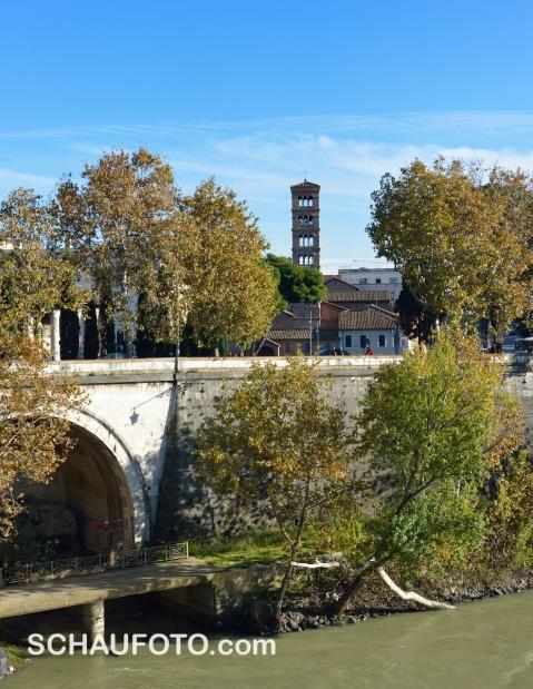 Rückblick auf Santa Maria in Cosmedin.