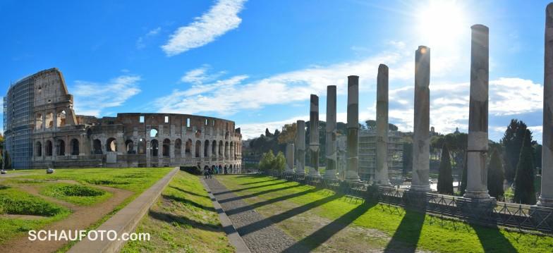 Rückblick auf das Colosseum.
