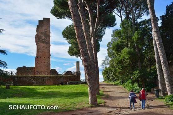 Dekorative Ruinen auf dem Palatin.