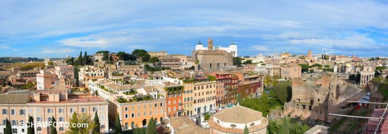 Eine der vielen schönen Sichten vom Palatin.