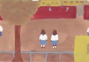 Schulhof - keine weitere Beschriftung