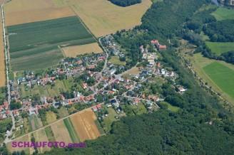 """Goseck mit Schloss in """"Spornlage"""""""