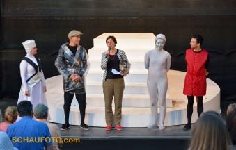 Besonderes Schlusswort zur letzten Vorstellung von Frau Dr. Susanne Schulz, Intendantin des Theaters Naumburg.