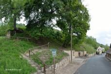 Die Einstiegsstelle in den Weinberg zum Napoleonstein hinauf.
