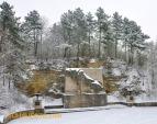 Das Löwendenkmal im Winter 2012.
