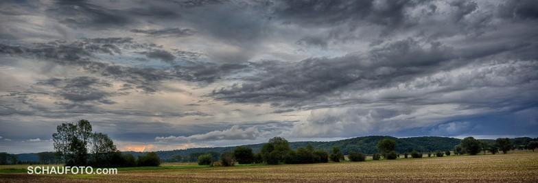 Abendwolken über dem Leißlinger Wald - Farbversion 1