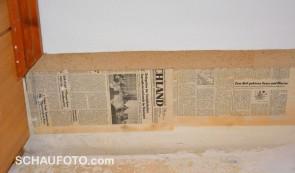 Letzte Bau-Spuren mit Datum: 15.3.1985