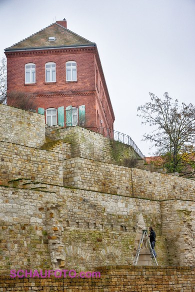 Schlosshang mit Stadtarchiv und Mops