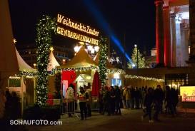 Weihnachtsmarkt mit Eintritt - und trotzdem voll!