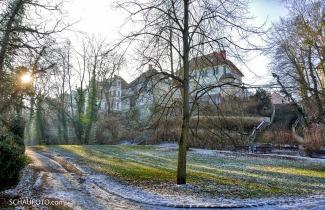 winterlicher Stadtpark Weißenfels
