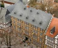 Das Brauhaus Goslar vom Kirchturm gesehen.