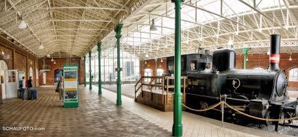 Bahnhof mit Ausstellung