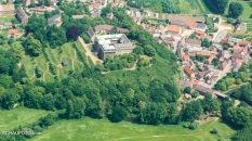 Im Luftbild von 2008 ist zu erkennen, dass der Barockgarten schon mal besser in Schuss war.