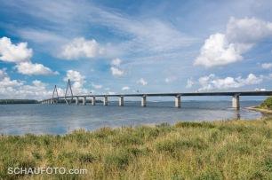 Über diese Brücke muss man aus Richtung Süden kommen.
