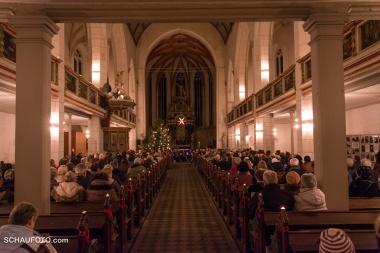 Sehr gut besuchte Marienkirche.