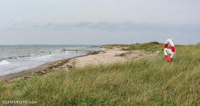 Strand ohne Badegäste.