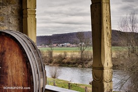 Ein Blick zurück vom Landesweingut gen Schulpforte.