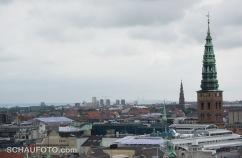 Sicht vom Runden Turm zur Öresundbrücke.