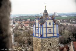 Blauer Turm - im Hintergrund Industrie.