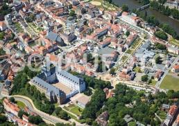 Schloss Neu-Augustusburg mit Weißenfelser Zentrum.