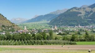 Sicht über Laatsch in Richtung Reschenpass.