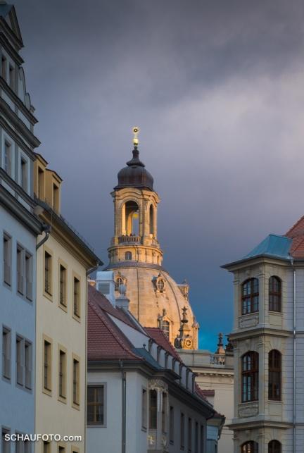 Dresden, Übergang zur Blauen Stunde