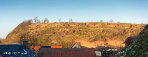 Seitenblick zu Schönburger Weinterrassen.