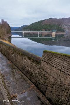 Einlauf in den Hochwasserabflusskanal