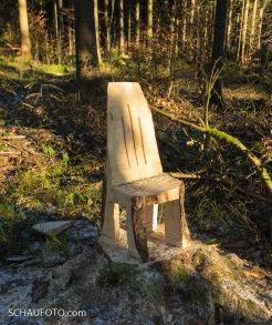 ein Einbaum-Stuhl