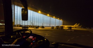 Größter fußbodenbeheizter Hangar der Welt.