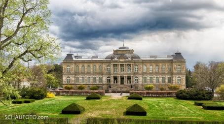 Blick vom Schloss zum Herzoglichen Museum.