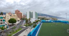 Fußballplatz am Atlantik