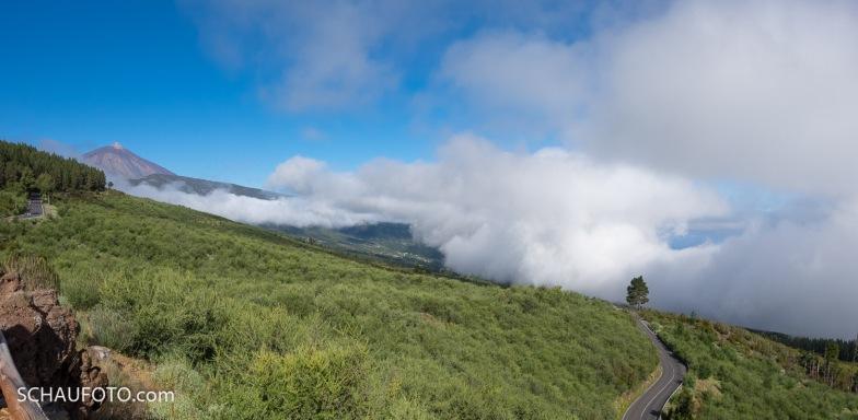 Endlich freie Sicht auf den Teide.