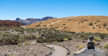 Auch dieser schön angelegte Weg endete nach ein paar Metern vor einer Absperrung.
