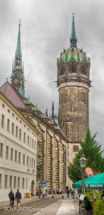 Schlosskirche mit preußischem Turmaufsatz.