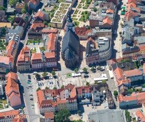 Marktplatz und Marienkirche am 23. Juni 2016