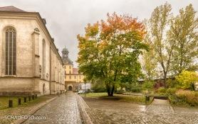 links der Dom, geradeaus das Schloss