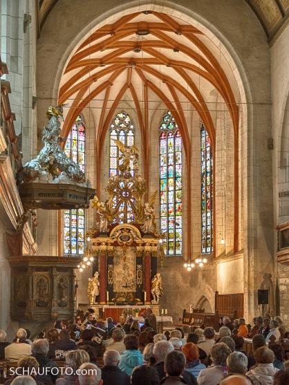 Beginn des Wandelkonzerts 2017 in der Marienkirche