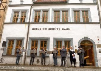 Stadtmusikanten am Heinrich Schütz Haus
