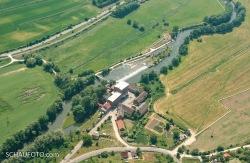 Die Mühle im Luftbild von 2008.