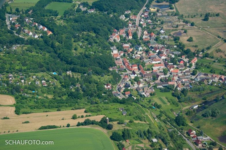 Markwerben mit Bergerturm im Luftbild von 2013